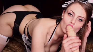 Dirty Maid Sucks & Fucks Huge Dildo 12
